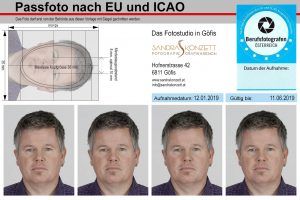 Passfotomuster klein